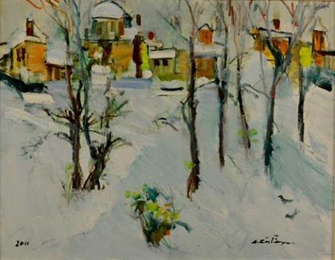 Peisaj de iarna Augustin Costinescu